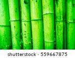 Close Up Of Green Bamboo Mat...