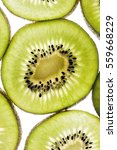 fresh juicy kiwi slices... | Shutterstock . vector #559668229