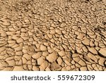Dried Cracked Soil Ground...