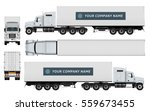 Cargo Container Truck Template...