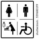 vector mens and womens disabled ... | Shutterstock .eps vector #559680199