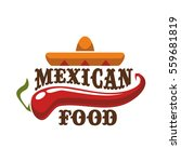 mexican spicy and hot... | Shutterstock .eps vector #559681819
