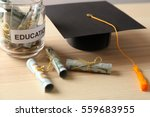 Graduation Hat And Glass Jar...
