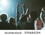 audience applauded by the stage ... | Shutterstock . vector #559684294