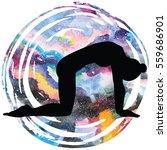 women silhouette on galaxy...   Shutterstock .eps vector #559686901