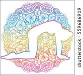 women silhouette.cat yoga pose. ...   Shutterstock .eps vector #559686919