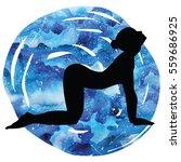women silhouette on galaxy...   Shutterstock .eps vector #559686925