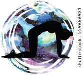 women silhouette on galaxy...   Shutterstock .eps vector #559686931
