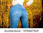 Sexy Woman Buttocks In Denim...