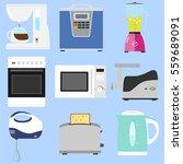kitchen appliances  coffee... | Shutterstock .eps vector #559689091