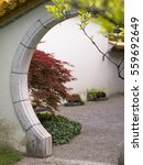 Doorway In Chinese Garden In...