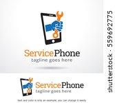 service phone logo template... | Shutterstock .eps vector #559692775