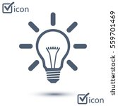 light lamp sign icon. idea bulb ... | Shutterstock .eps vector #559701469