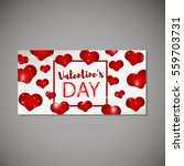 valentine s day template for... | Shutterstock .eps vector #559703731