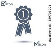 badge with ribbons icon. award ... | Shutterstock .eps vector #559705201