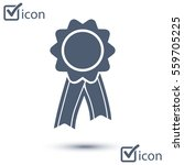 badge with ribbons icon. award ... | Shutterstock .eps vector #559705225