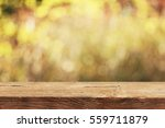 empty table for display montages | Shutterstock . vector #559711879