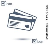 vector credit cards icon. flat... | Shutterstock .eps vector #559717531