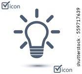 light lamp sign icon. idea...