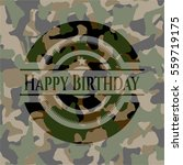 happy birthday camouflaged...   Shutterstock .eps vector #559719175