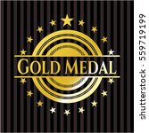 gold medal shiny badge | Shutterstock .eps vector #559719199