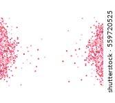 pink confetti in white... | Shutterstock .eps vector #559720525