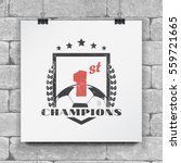 soccer football club. sport... | Shutterstock .eps vector #559721665