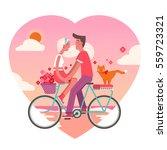 cute flat vector illustration... | Shutterstock .eps vector #559723321
