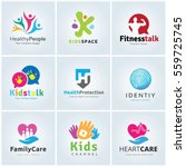 kids and people logo collection ... | Shutterstock .eps vector #559725745
