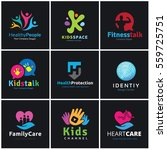 logo collection set of people... | Shutterstock .eps vector #559725751