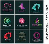 logo collection of spa beauty... | Shutterstock .eps vector #559728025