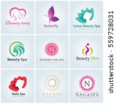 logo collection of spa beauty... | Shutterstock .eps vector #559728031