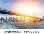 the manhattan skyline and...   Shutterstock . vector #559729579