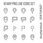 set of map pins management in...