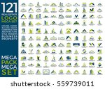 mega set and big group  real... | Shutterstock .eps vector #559739011