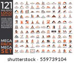 mega set and big group  real... | Shutterstock .eps vector #559739104