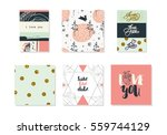 beautiful lovely and creative... | Shutterstock .eps vector #559744129