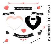 wedding icons vector set.... | Shutterstock .eps vector #559749781