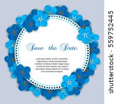 vintage  invitation with... | Shutterstock .eps vector #559752445