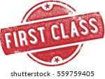 first class vintage rubber stamp | Shutterstock .eps vector #559759405