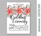 wedding invitation floral... | Shutterstock .eps vector #559761109