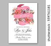 wedding invitation floral... | Shutterstock .eps vector #559761181
