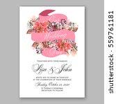 wedding invitation floral... | Shutterstock .eps vector #559761181