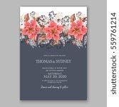 wedding invitation floral... | Shutterstock .eps vector #559761214