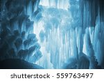 huge ice icicles. large blocks...   Shutterstock . vector #559763497