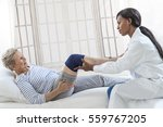 physiotherapy   therapist doing ... | Shutterstock . vector #559767205