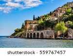dockyard and arsenal in alanya... | Shutterstock . vector #559767457