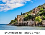 dockyard and arsenal in alanya... | Shutterstock . vector #559767484