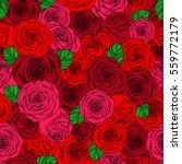 valentine's day pattern of rose ... | Shutterstock .eps vector #559772179