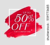 sale up to 50  off sign over... | Shutterstock .eps vector #559773685